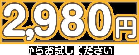 2,980円からお試しください!